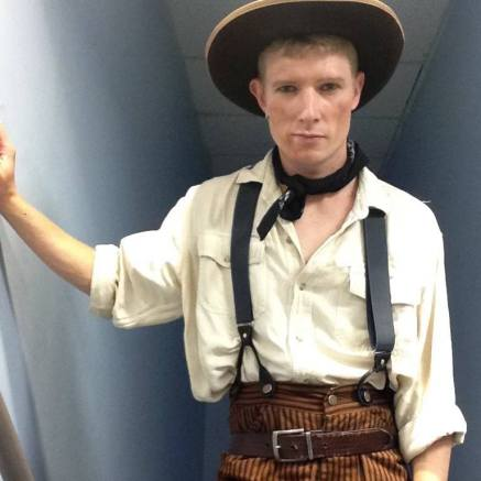 "Swinging in for Will Parker in ""Oklahoma"""